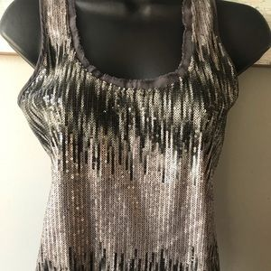Calvin Klein Gray Sequined Top PXS